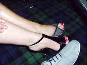 me in heels!